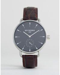 Ben Sherman - Brown Leather Strap Watch - Lyst