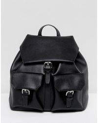 Glamorous | Black Backpack With Pocket Detail | Lyst