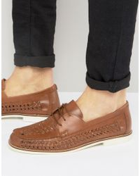 KG by Kurt Geiger - Kg By Kurt Geiger Woven Shoes In Tan Leather - Lyst