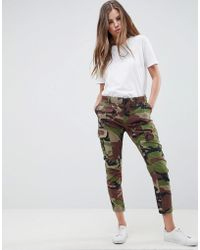 Replay - Camo Cargo Pant - Lyst