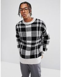 Weekday - Checked Ken Knitted Jumper - Lyst