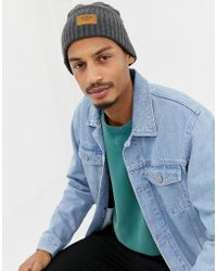 Timberland - Gulf Beach Ribbed Beanie In Charcoal - Lyst