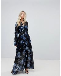 Forever New - Printed Maxi Dress With Full Sleeve - Lyst