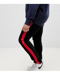 dda79890 Sixth June - Super Skinny Jeans In Black With Red Side Stripe Exclusive To  Asos -