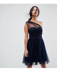 ASOS   Dobby Mesh One Shoulder Mini Prom Dress   Lyst