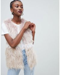 New Look - Faux Fur Gilet - Lyst