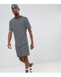 ASOS - Pyjama Set With Shorts In Stripe - Lyst