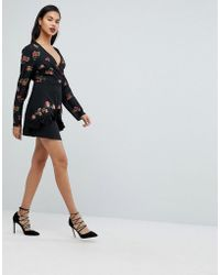 Fashion Union - Layered Mini Skirt With Embroidery - Lyst