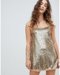 ea6afee1bc8d Free People 100 Degrees Of Shine Mini Dress in Purple - Lyst