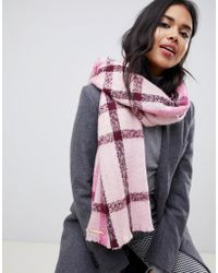 Ted Baker - Check Scarf - Lyst