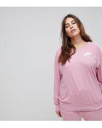 Nike - Plus Gym Vintage Sweatshirt In Pink - Lyst