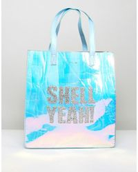 Skinnydip London - Shell Yeah Iridescent Tote Bag - Lyst