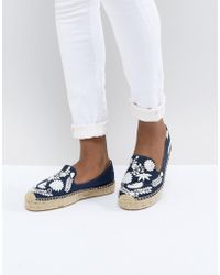 Soludos - Midnight Blue Ibiza Embroidered Espadrilles - Lyst