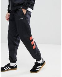 adidas Originals - Vintage Tapered Joggers In Black Cw4989 - Lyst