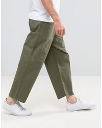 Dr. Denim - Melvin Wide & Cropped Jeans Utility Green - Lyst