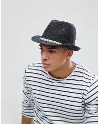 e205d0eb800 Barts Aveloz Summer Trilby Hat in Brown for Men - Lyst