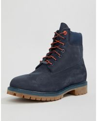 Timberland - 6 Inch Premium Boots In Navy - Lyst
