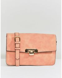 Pieces - Cross Body Buckle Bag - Lyst