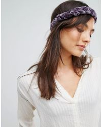 Rock N Rose - Rock N Rose Velvet Plait Headband - Lyst