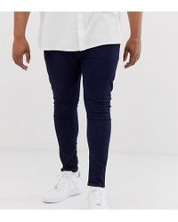 ASOS - Plus Spray On Jeans In Power Stretch Denim In Indigo - Lyst