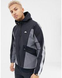 Ellesse - Mannio Track Jacket With Reflective Sleeve Stripe In Black - Lyst