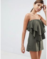 ASOS - Bandeau Layered Romper - Lyst