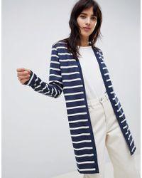 Ichi - Stripe Jersey Cardigan - Lyst