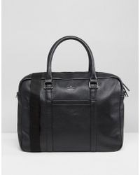 ASOS - Satchel In Leather Briefcase Casual - Lyst