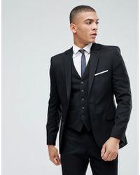 Moss Bros - Moss London Skinny Suit Jacket In Black - Lyst