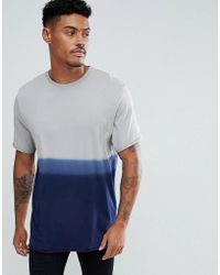 ASOS - Longline T-shirt With Grungy Wash And Raw Edge - Lyst