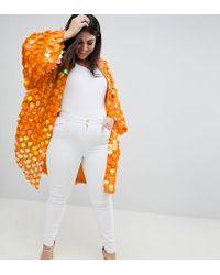 ASOS - Asos Design Curve Bright Sequin Kimono - Lyst