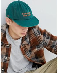 Globe - Embroidered Low Rise Snapback In Green - Lyst