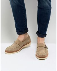 Farah - Ramone Suede Monk Shoes With Chunky Sole - Lyst