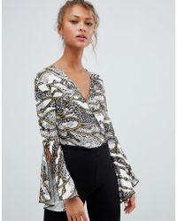 Daisy Street - Wrap Front Bodysuit - Lyst
