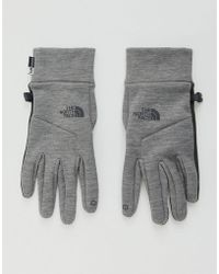 The North Face - Etip Glove Grey - Lyst