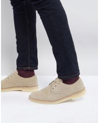 Clarks - Clarks Desert Crosby Shoes In Stone Suede - Lyst
