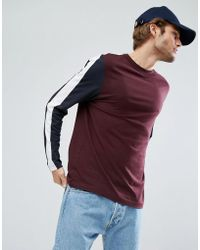 ASOS - Relaxed Long Sleeve T-shirt With Cut And Sew Panels - Lyst