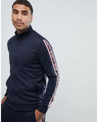 Only & Sons - Track Jacket With Slogan Taping - Lyst