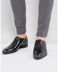 HUGO | Appeal Lace Up Leather Oxford Shoes In Black | Lyst