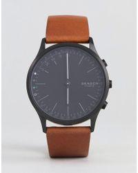 Skagen - Connected Skt1202 Jorn Leather Hybrid Smart Watch In Tan - Lyst