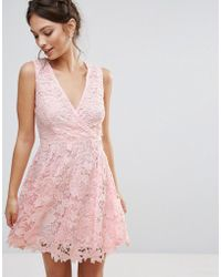 Amy Lynn - Occasion 3d Floral Lace Dress - Lyst