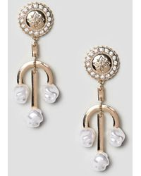 ASOS - Earrings In Vintage Style Coin And Sundial Design With Faux Freshwater Pearls In Gold - Lyst