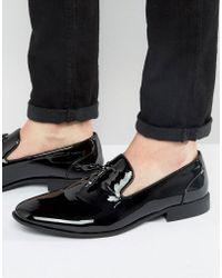 ASOS - Tassel Loafers In Black Patent - Lyst