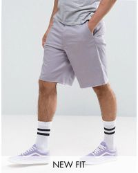 ASOS | Skater Shorts With Raw Edge In Lilac | Lyst