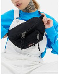 Eastpak - Double Pocket Black Bum Bag - Lyst