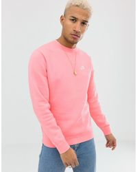 Nike - Club Crewneck Sweatshirt In Pink - Lyst