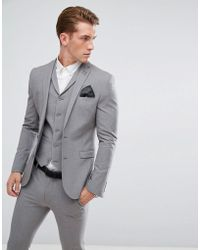 ASOS - Super Skinny Fit Suit Jacket In Mid Grey - Lyst