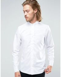 Rogues Of London - Skinny Grandad Shirt - Lyst