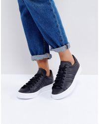 adidas Originals - Originals Court Vantage Trainers In Black - Lyst