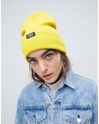 Cheap Monday - Beanie In Yellow - Lyst
